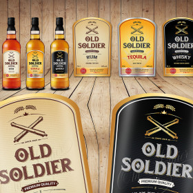 Rum, Tequila and Whisky labels